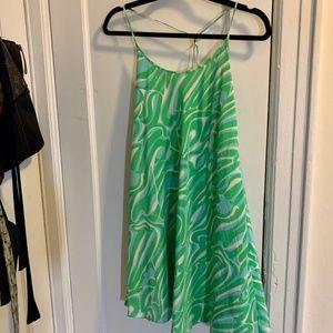 Lilly Pulitzer Green/Blue Swirl Dress (Size M)